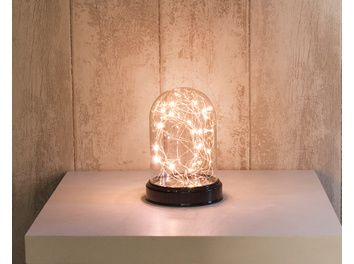 Cloche VitroLED Translucide 20 LED Blanc Chaud M