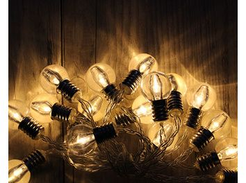 Guirlande little vintage rétro 16 LED Blanc Chaud