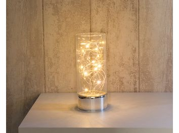 Vase VitroLED Translucide 15 LED Blanc Chaud U