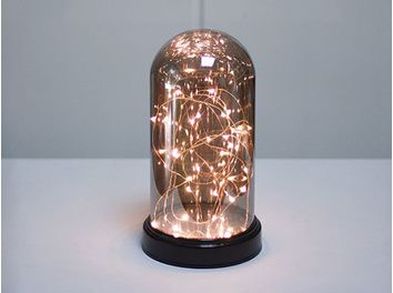 Cloche VitroLED Champagne 20 LED Blanc Chaud S